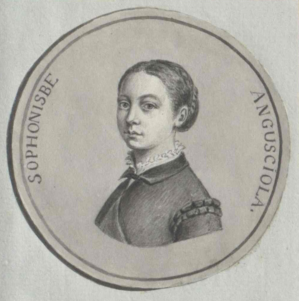Portrait of Sofonisba Anguissola, unknown artist, Österreichische Nationalbibliothek - Austrian National Library, Public Domain Mark