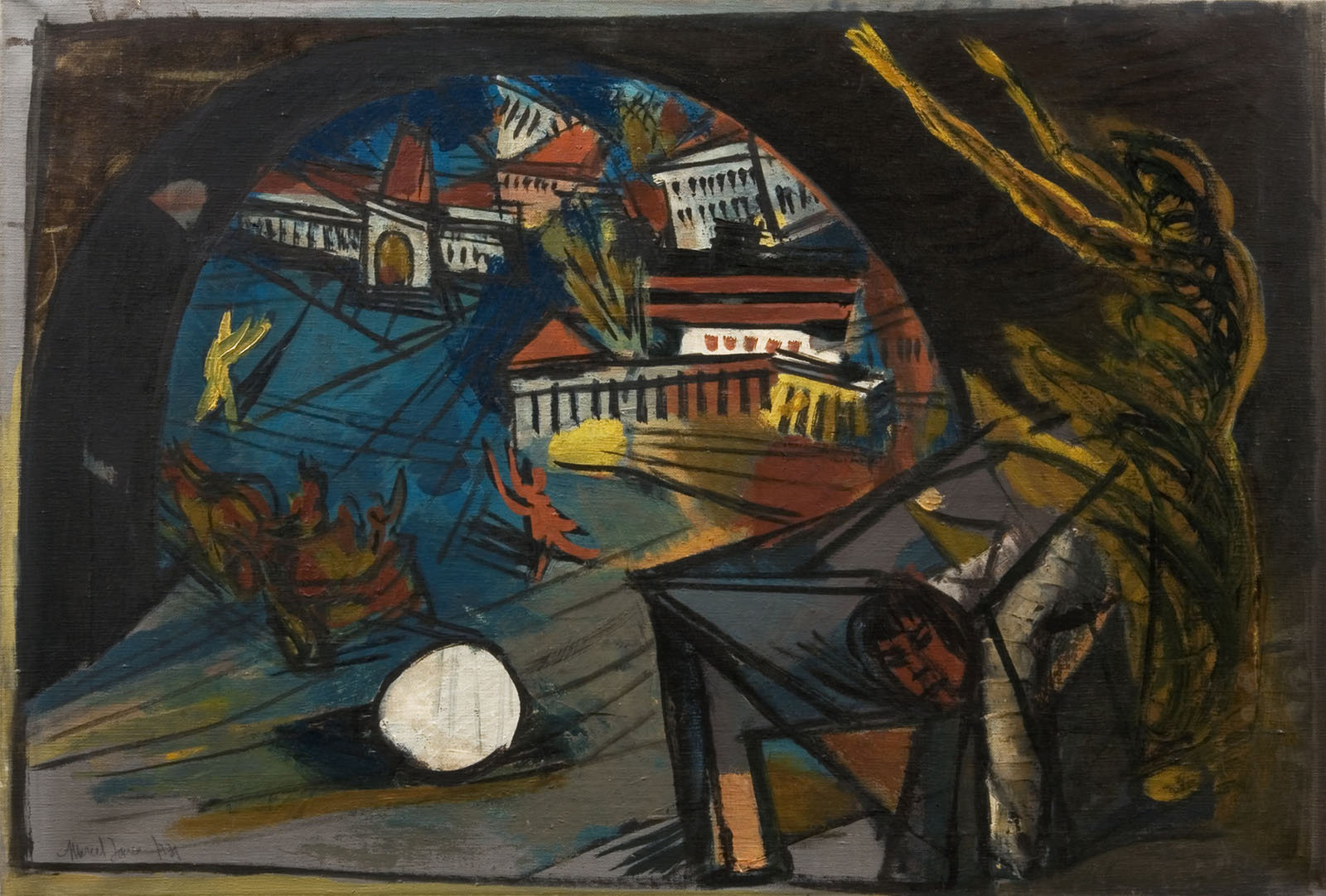 Looking into the Universe, 1931, Marcel Janco,  National Heritage Institute, Bucharest , CC0