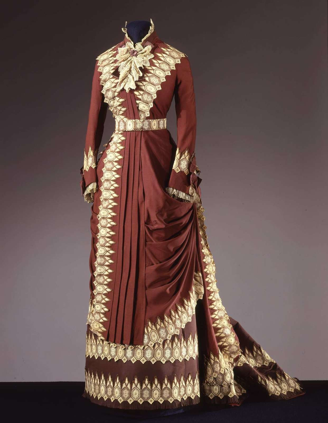 Two-piece dress, 'Princesse' line, ca. 1880, Charles Frederick Worth, Galleria del Costume di Palazzo Pitti, In Copyright