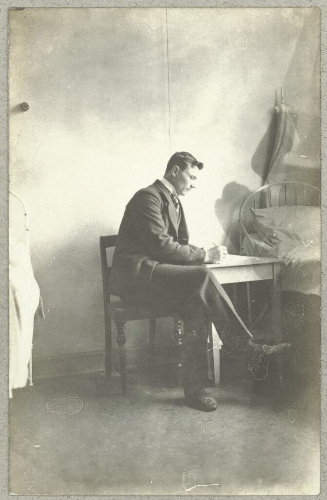 A Russian POW writing a letter, 1918, The Royal Library: The National Library of Denmark and Copenhagen University Library, CC BY-NC-ND