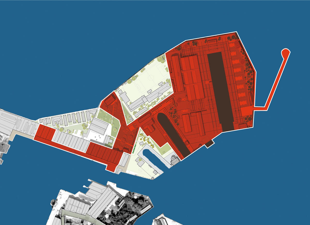 The area of the Arsenal where maintenance of Mose and management of the lagoon system will be located, 2013, Magistrato alle Acque di Venezia - Consorzio Venezia Nuova, Wikimedia Commons, CC BY-SA