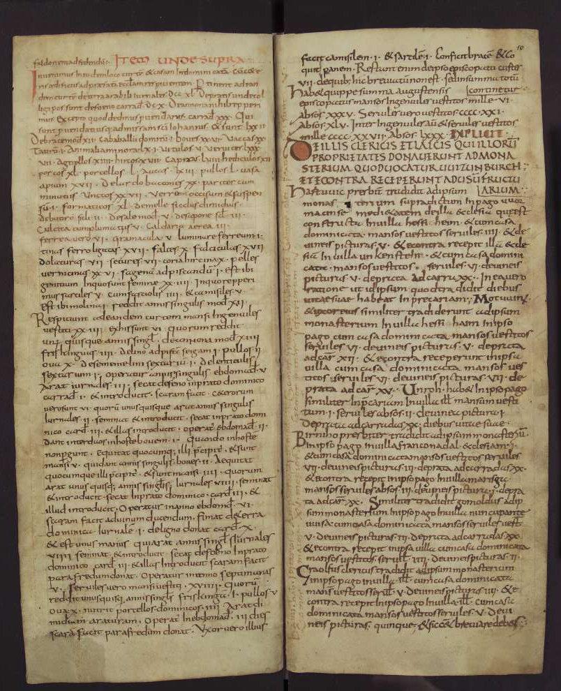 Capitulare de villis 9v-10, Fulda, 2nd quarter of the 9th century, Wolfenbüttel, Herzog August Bibliothek, Cod. Guelf. 254 Helmst Parchment, 16 ff., 308 × 125 mm, In Copyright