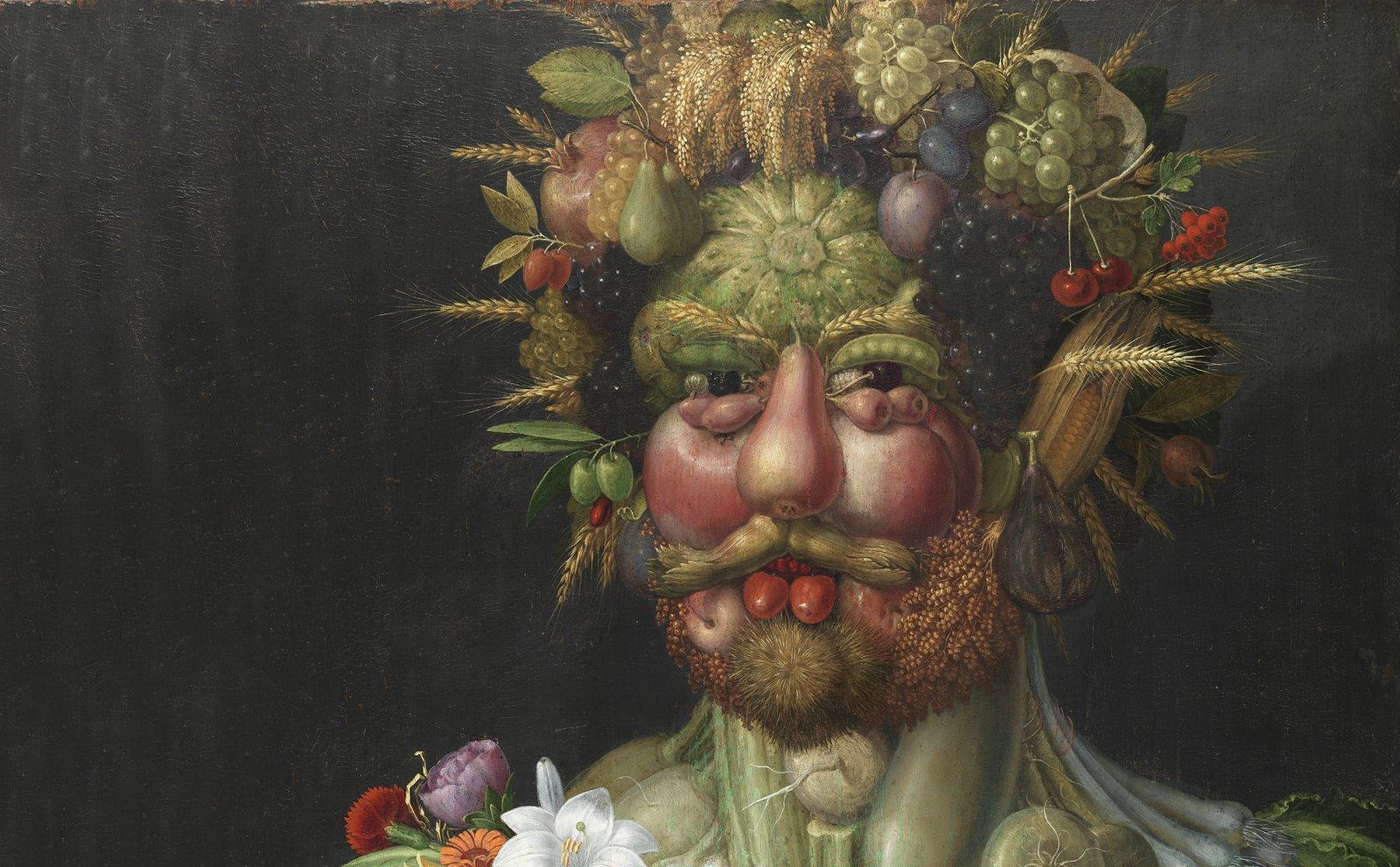 Rudolph II as Vertumnus (c. 1590-1591), Guiseppe Arcimboldo, Skoklosters Slott, Public Domain Mark