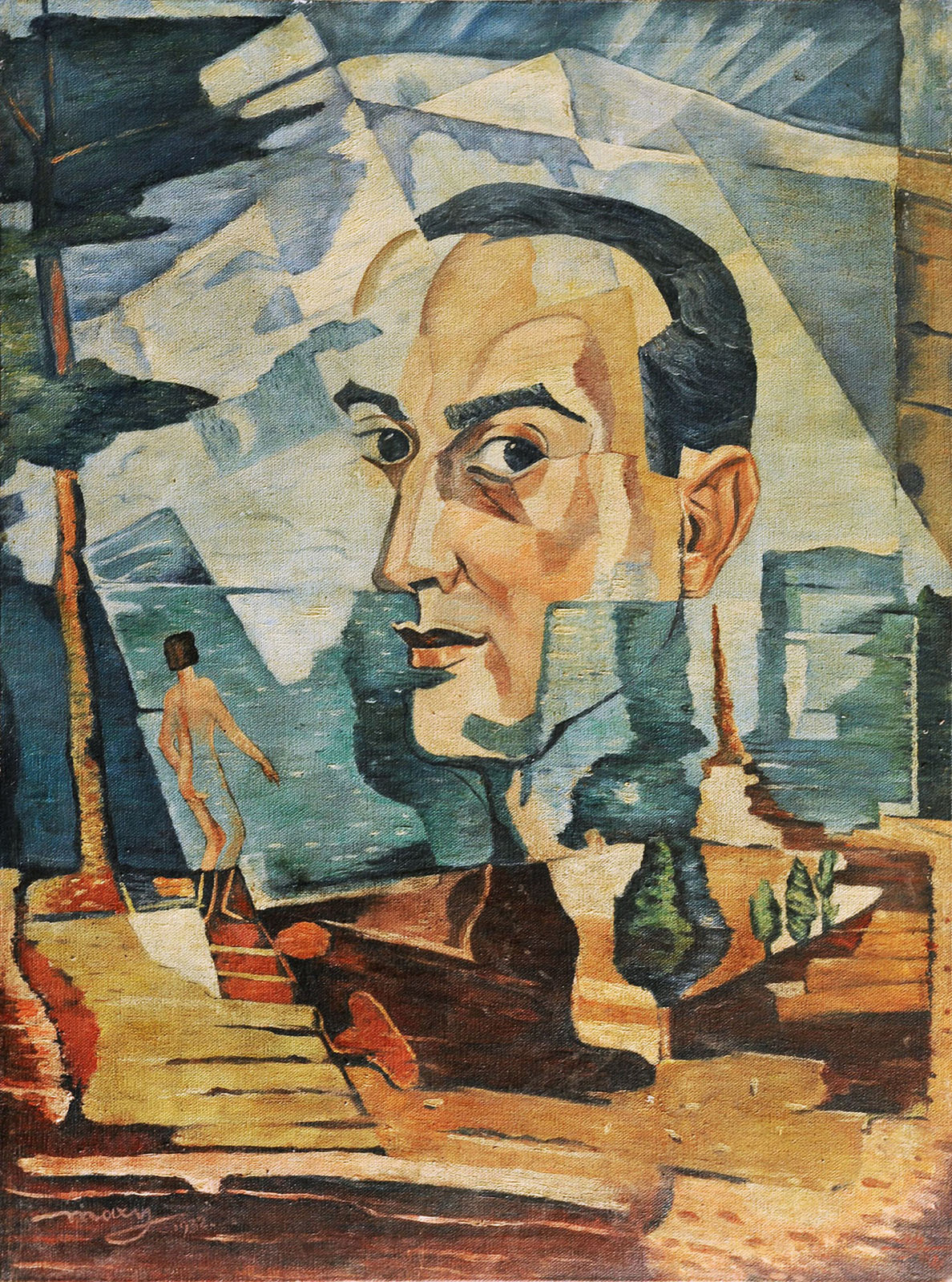 Self Portrait, Max Herman Maxy, Private Collection, Public Domain Mark