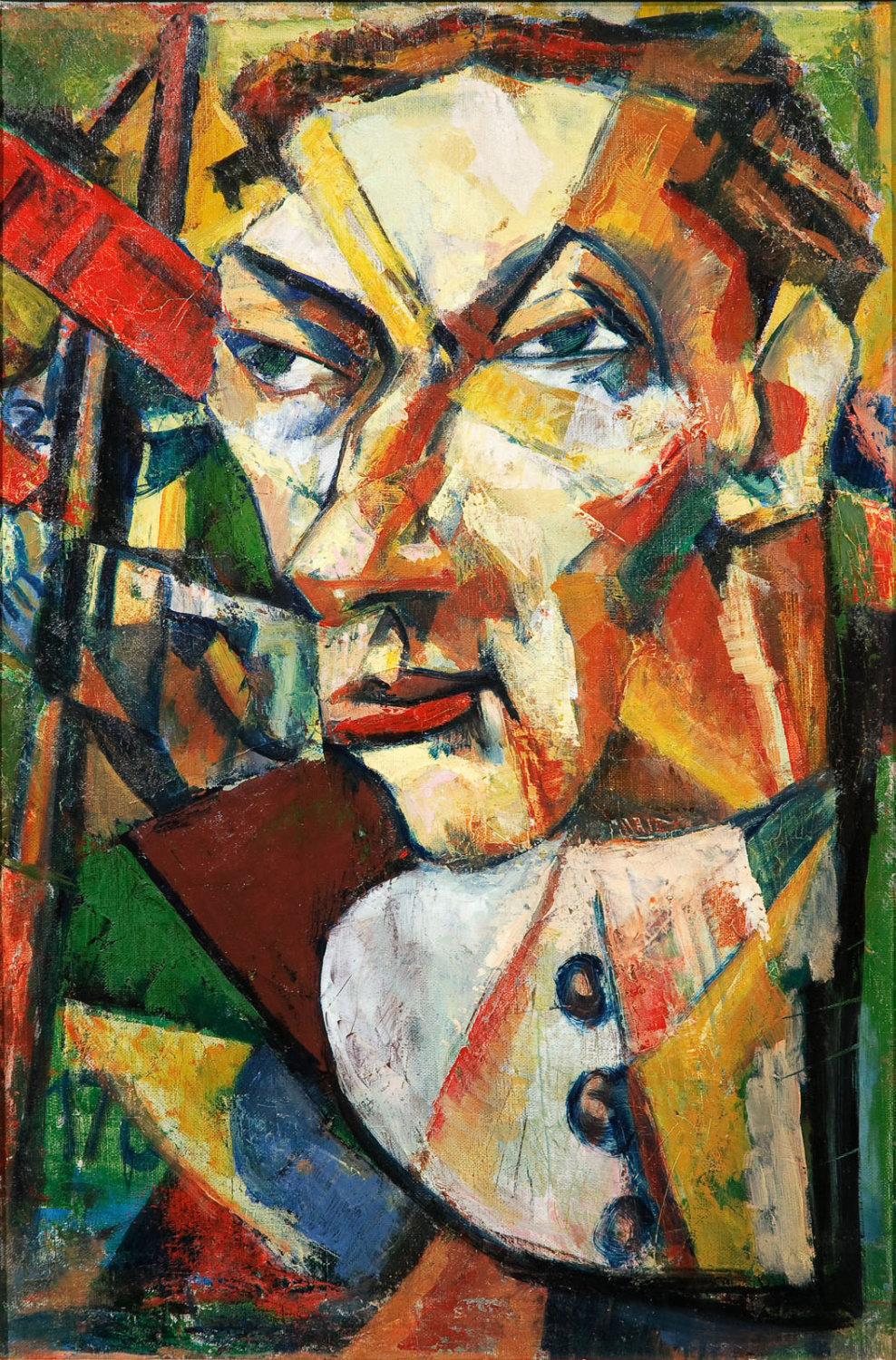 Man Portrait, 1922-1924 , Marcel Janco, National Museum of Art Romania, Romanian Modern Art Gallery, CC0