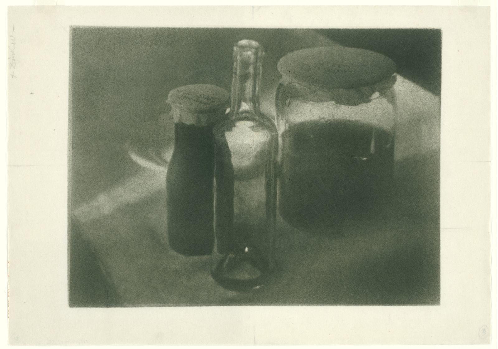Still life with bottle and jars, c. 1900-1910, Heinrich Kühn, Rijksmuseum, Public Domain Mark