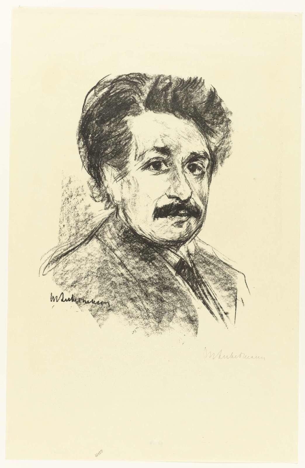 Portrait of Albert Einstein, 1857 - 1935 , Max Liebermann,  Rijksmuseum, Public Domain Mark