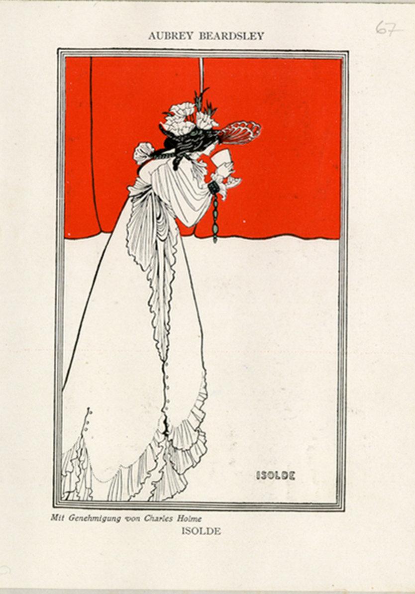 Isolde, Aubrey Beardsley, Landesbibliothek Mecklenburg-Vorpommern, Schwerin, In Copyright