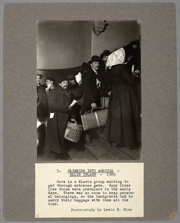 Climbing into America, Ellis Island, 1905, Hine, Lewis Wickes, NYPL Digital Gallery, Public Domain Mark