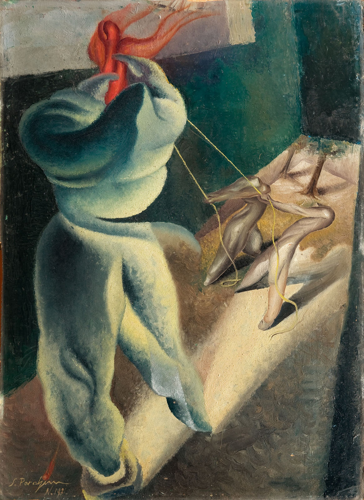 Surrealist Composition, 1931, Jules Perahim, National Museum of Art Romania, Romanian Modern Art Gallery, CC0