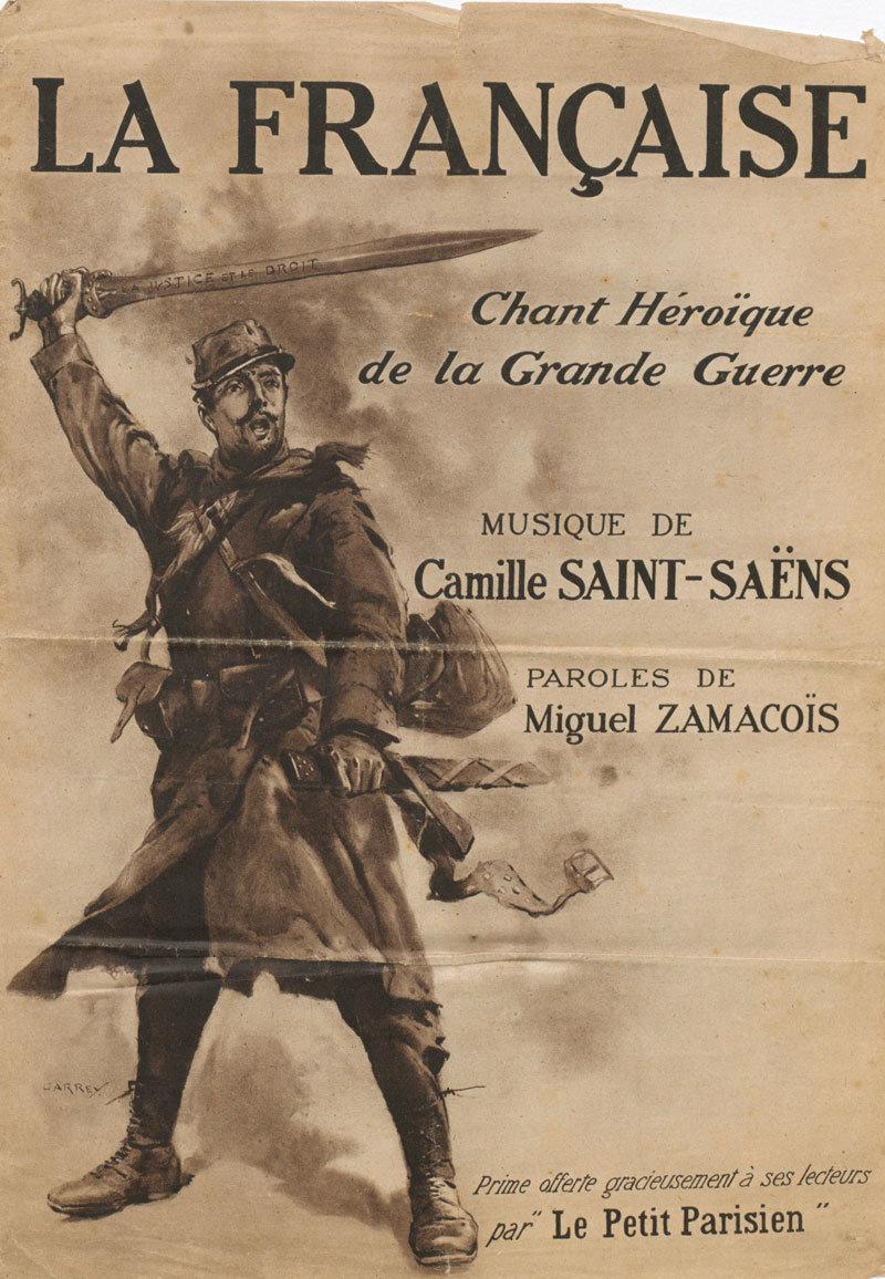 La Française, Camille Saint-Saëns (music), Miguel Zamacoïs (words), Europeana 1914-1918, CC BY-SA