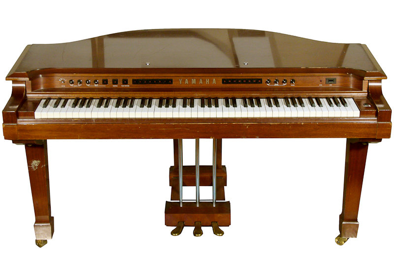 Benny Andersson's Synthesizer, c.1982, Yamaha, [Made in the early 1980s and therefore towards the end of ABBA's career, the GS-1 was Yamaha's first digital FM synthesizer. When it was first launched it cost around 12,000 euros, which is equivalent to around 50,000 euros today.  Specifications; Digital FM dual 4 operator synthesizer, 16-note polyphony, Multi-timbral (number of parts): 2, 3 built in foot switches, 1 FC-3A expression pedal, Chorus effect, 88-key velocity sensitive keyboard, and 16 presets.] , Musikmuseet, Stockholm, CC BY-NC-SA