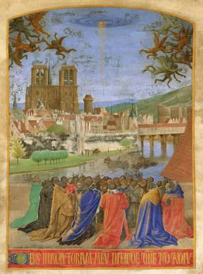 The Right Hand of God Protecting the Faithful against the Demons, ca. 1452–1460, Jean Fouquet, Metropolitan Museum of Art, CC0