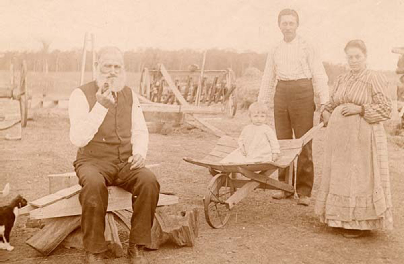 Three generations of a Czech immigrant family, On their farm in Montgomery, Minnesota, Media Archive  University of Minnesota, Immigration History Research Center, In Copyright