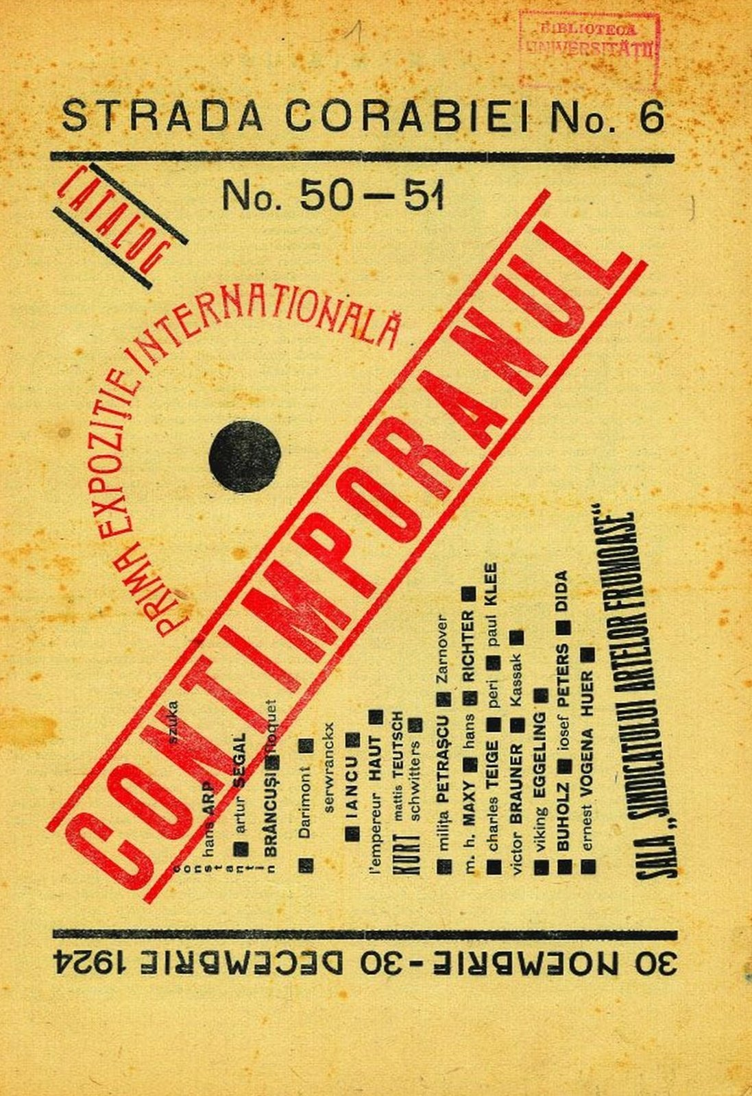 Cover of issue no. 50–51 of Contimporanul, 1924, , , Copyright Not Evaluated