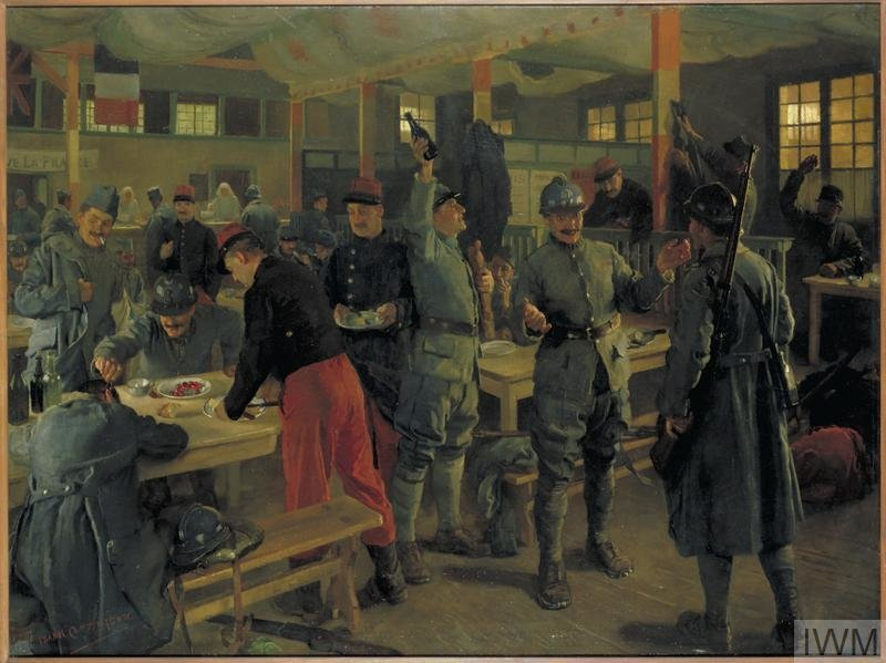 Cantine Franco-Britannique, Vitry-le-François, 1919, Isabel Codrington, Imperial War Museums, CC BY-NC-ND