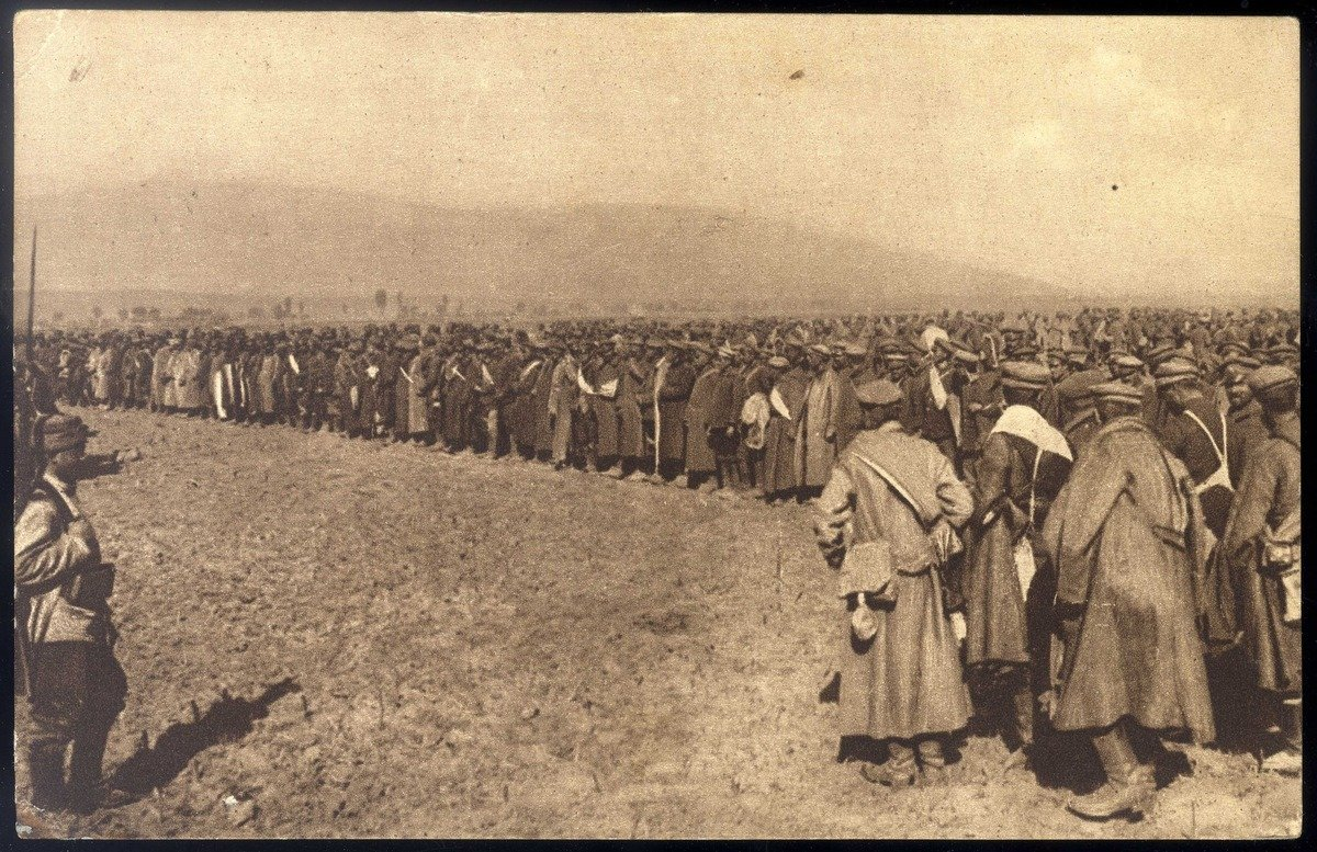 Bulgarian soldiers were captured by the Serbian army., 1916, Narodna biblioteka Srbije - National Library of Serbia (NLS), In Copyright
