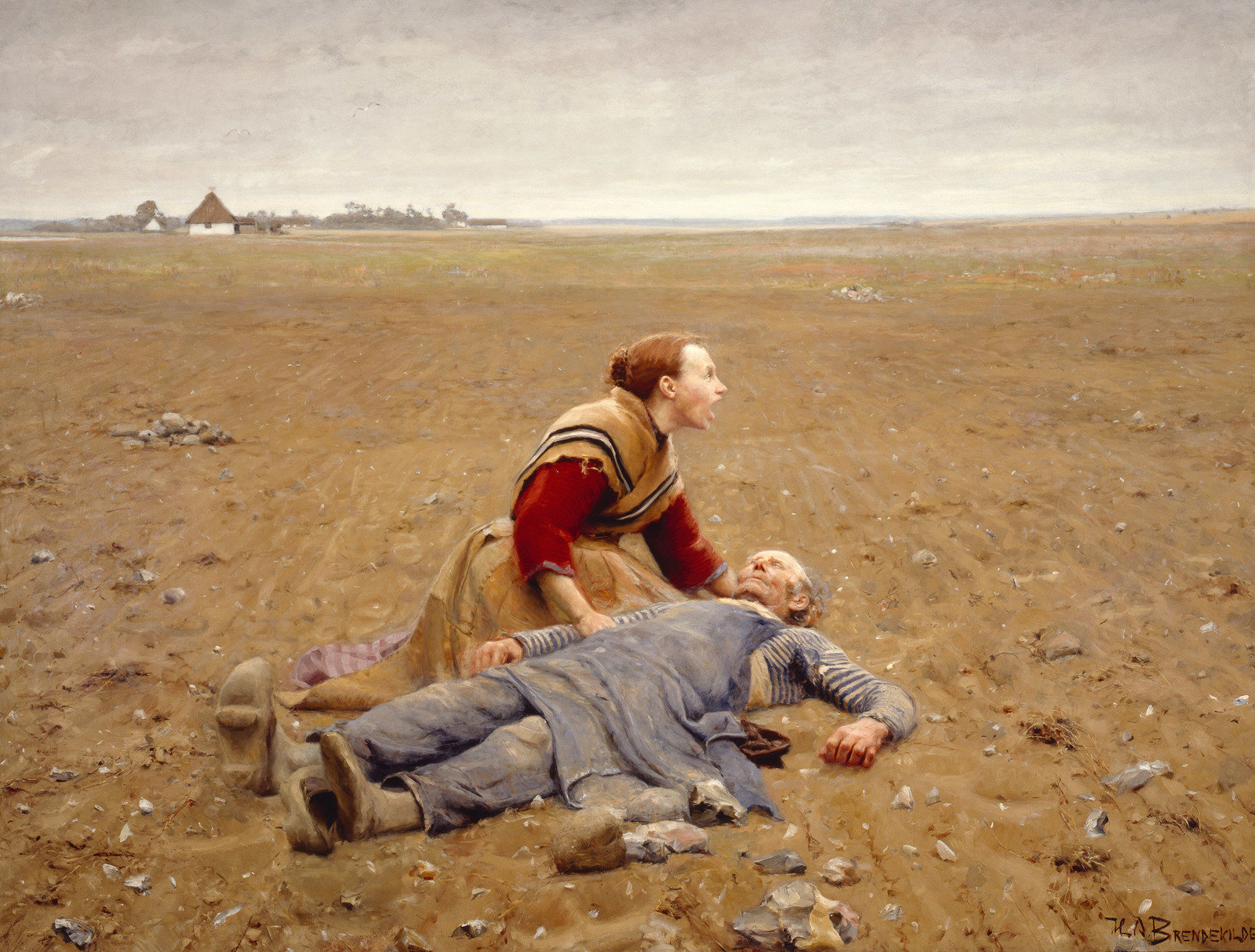 Worn Out, 1889, Hans Andersen Brendekilde, BRANDTS, Public Domain Mark