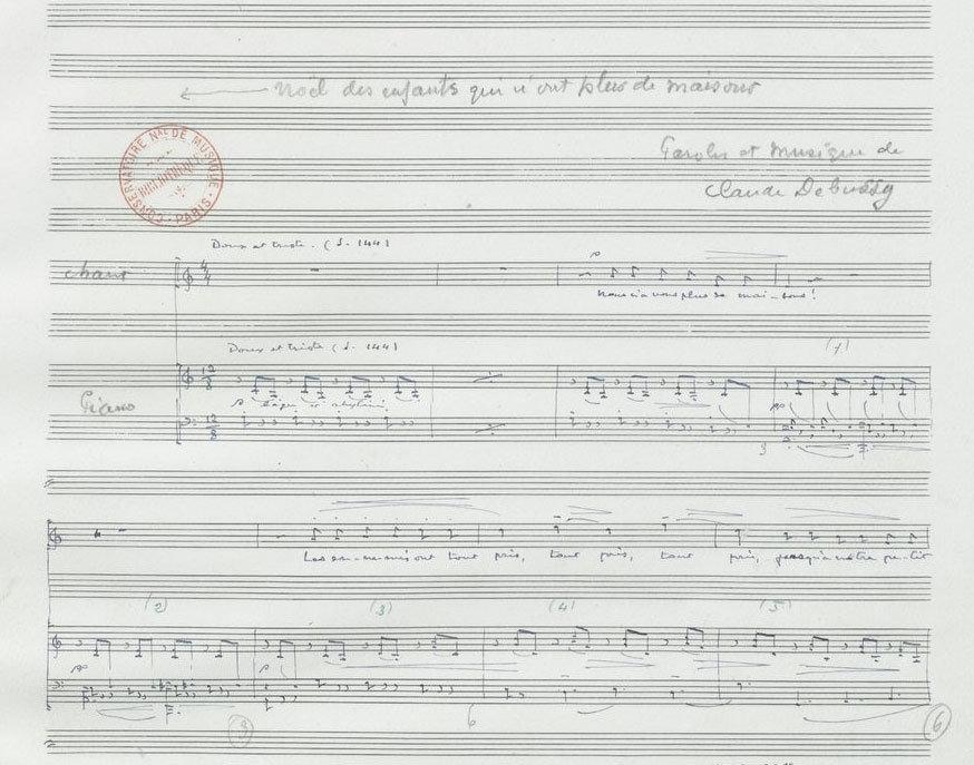 Noël des enfants qui n'ont pas de maison - autographed manuscript, Claude Debussy, Bibliothèque nationale de France, No Copyright - Other Known Legal Restrictions