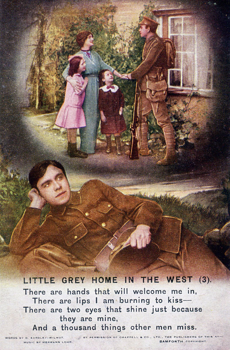 'Little Grey Home in the West', Bamforth & Co., Ltd., Publishers Holmfirth (England) and New York, Europeana 1914-1918 / the Army Children Archive, CC BY-SA