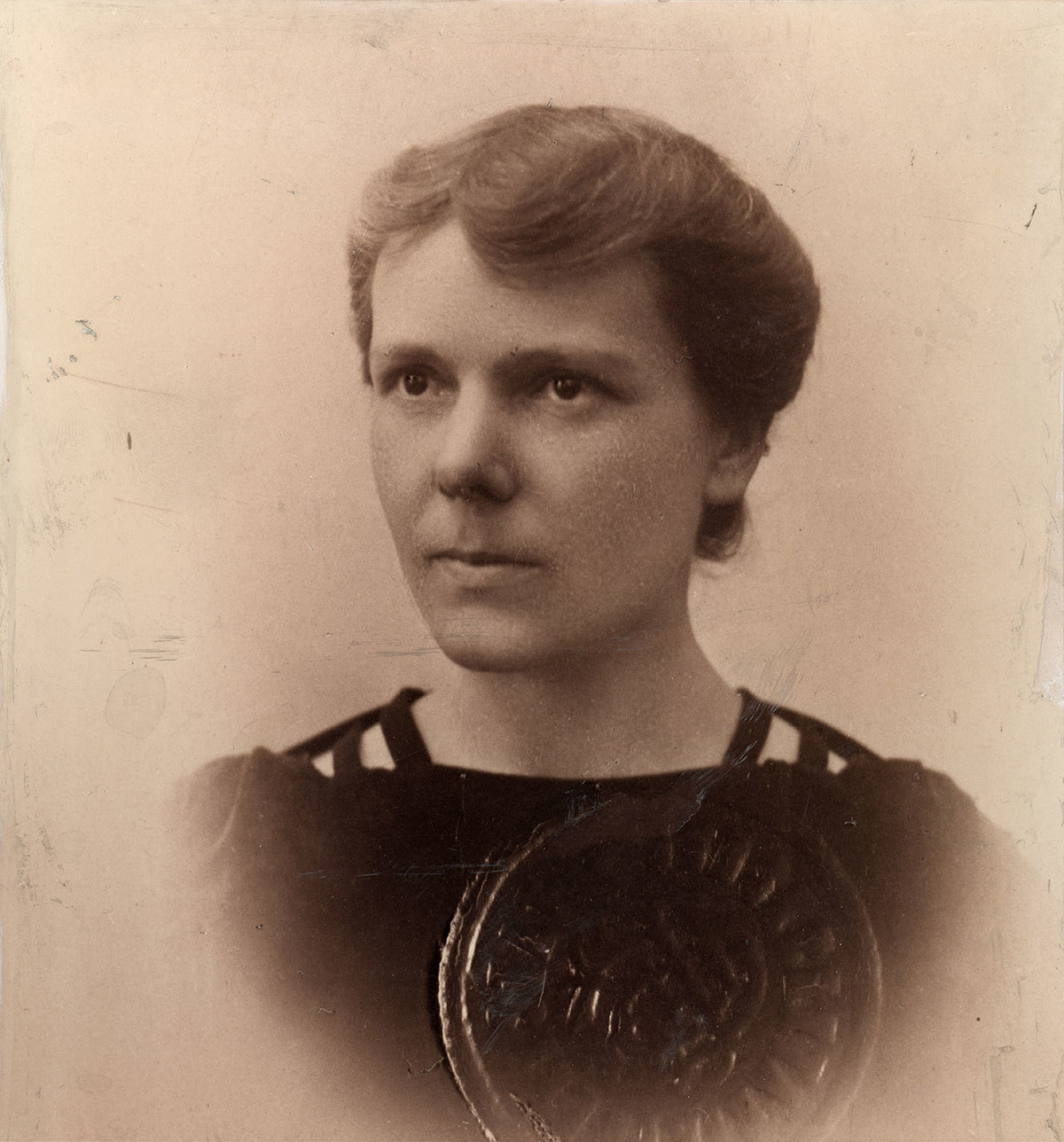 "Eng. Elisa Leonida Zamfirescu, when granted the title of Class I Chemist, Unknown photographer, National Technical Museum ""prof.ing. Dimitrie Leonida"", Bucharest, CC0"