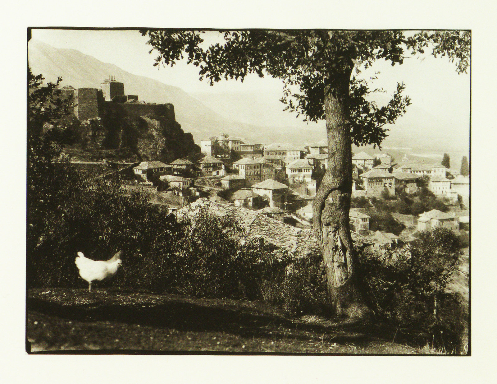 Panoramic view of Gjirokastër, 1931, Erich Andres, National Library of Albania, Public Domain Mark