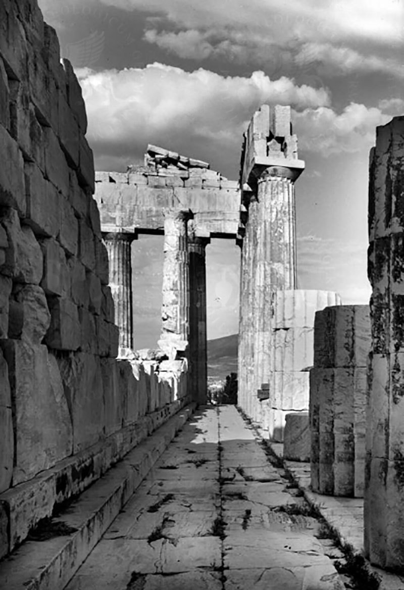 South Hall of the Parthenon, Acropolis, 20th century, unknown author, Arachne, CC BY
