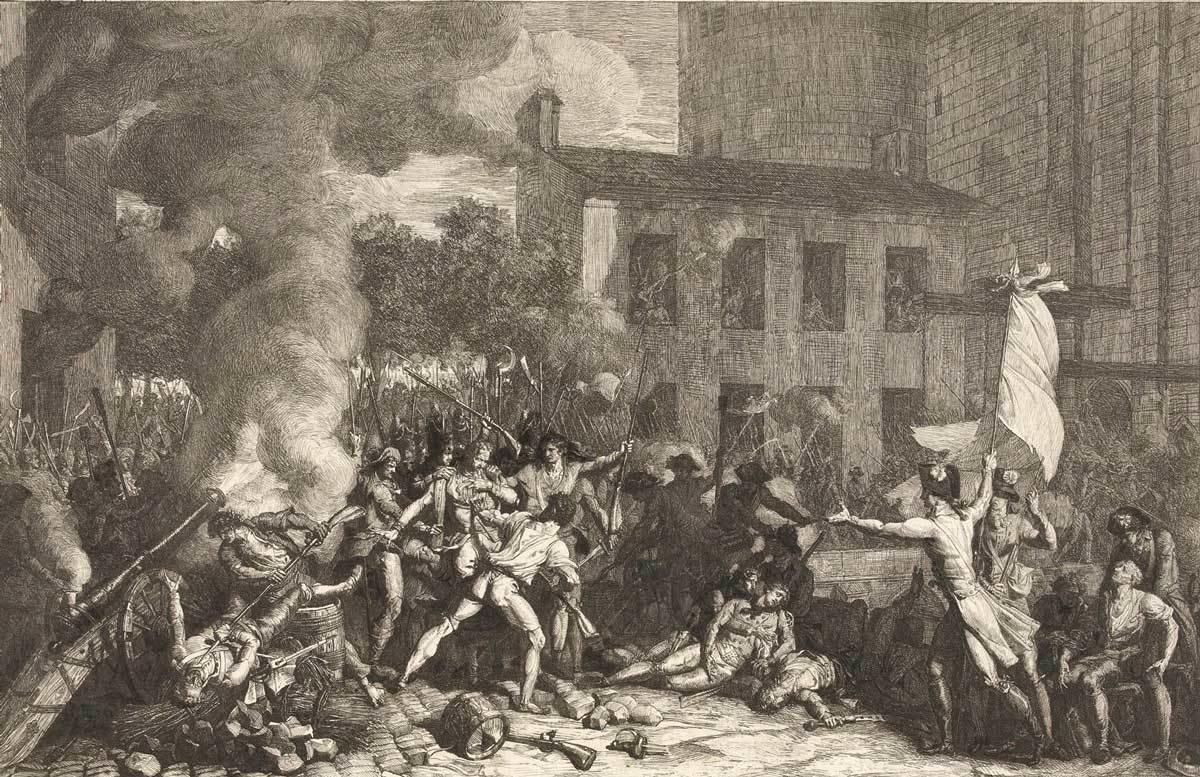 La Presa della Bastiglia, 14 Luglio 1789, Charles Thévenin, Rijksmuseum, Public Domain Mark