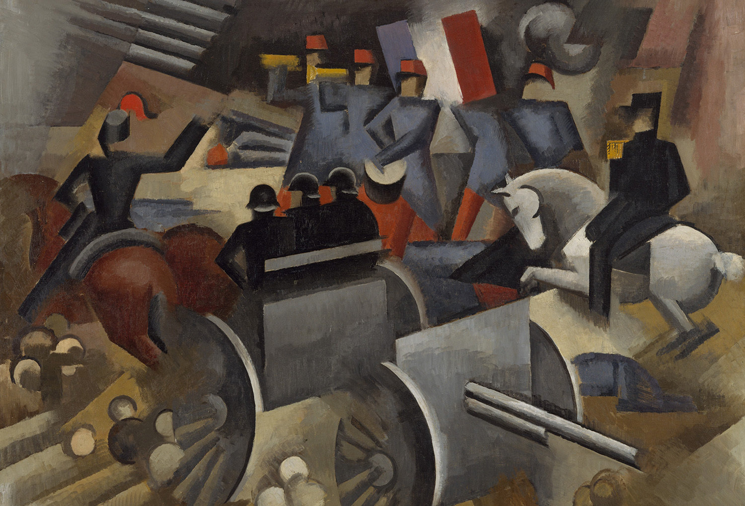 Artillery, 1911, Roger de la Fresnaye, The Metropolitan Museum of Art, Public Domain Mark