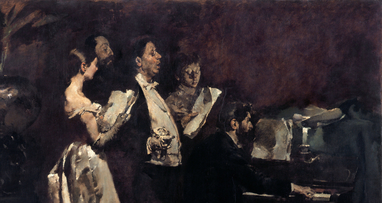 An Amateur Concert, 1882, Columbano Bordalo Pinheiro,  Museu Do Chiado – Museu Nacional De Arte Contemporânea, Public Domain Mark