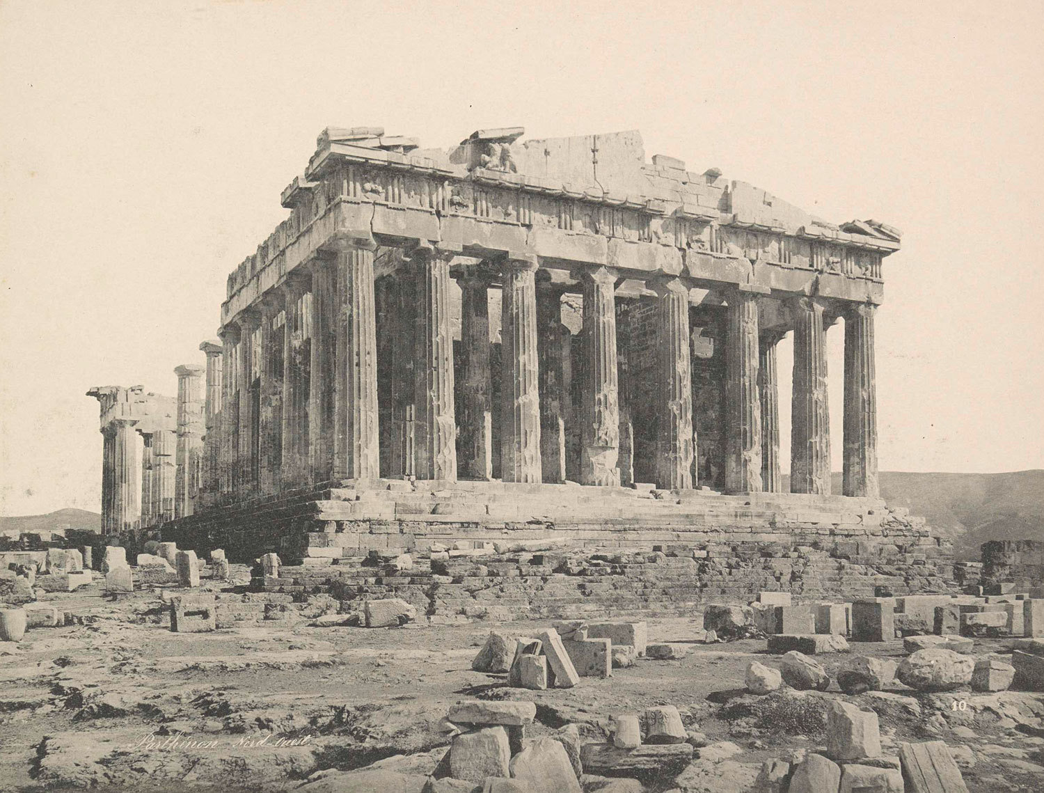 View of the Parthenon, Athens, ca. 1895-1905, anonymous, Rijksmuseum, Public Domain Mark