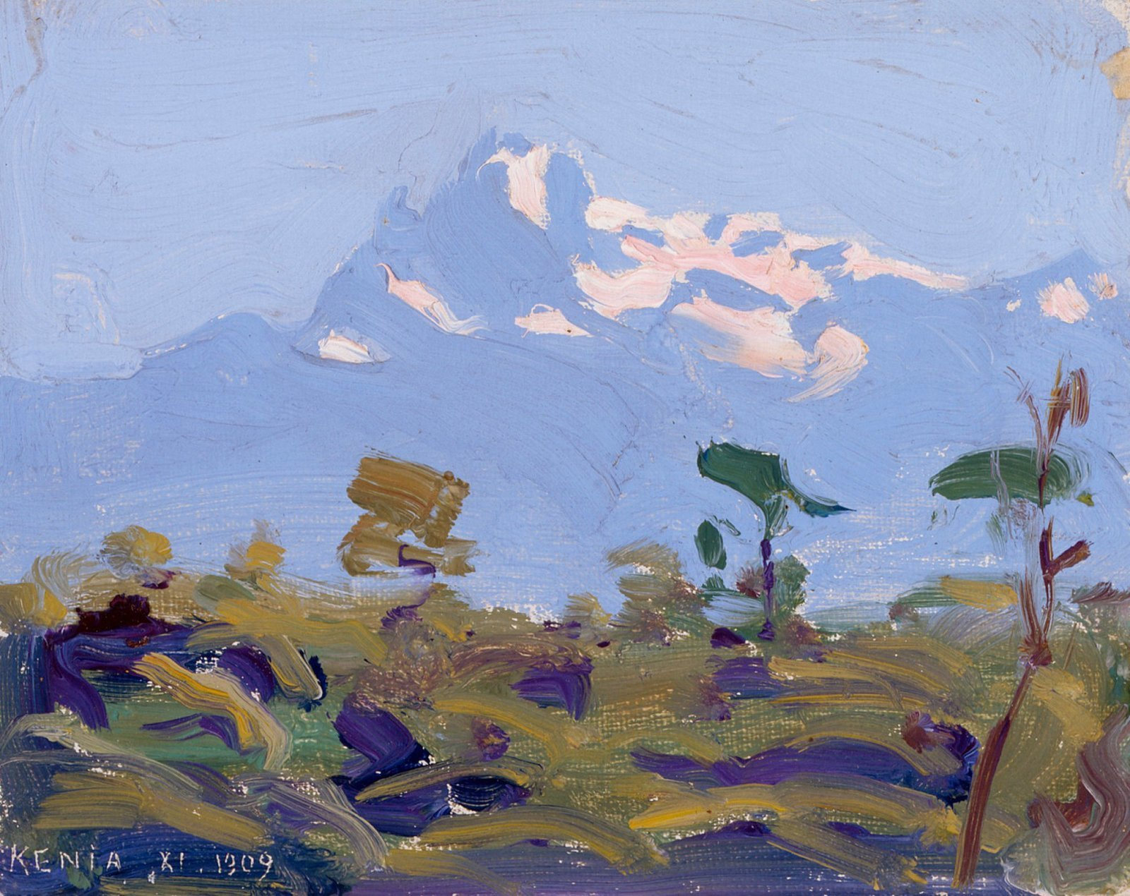 Mount Kenya, 1909–10, Akseli Gallen-Kallela, Finnish National Gallery / Ateneum Art Museum, Helsinki, CC0