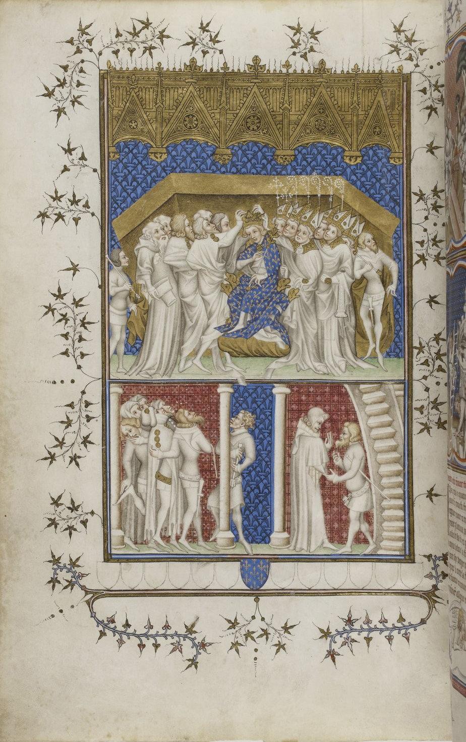 Grandes Chroniques de France f14, Paris, 14th century (c. 1375-1379), Bibliothèque nationale de France, Manuscrits, Français 2813, Public Domain Mark