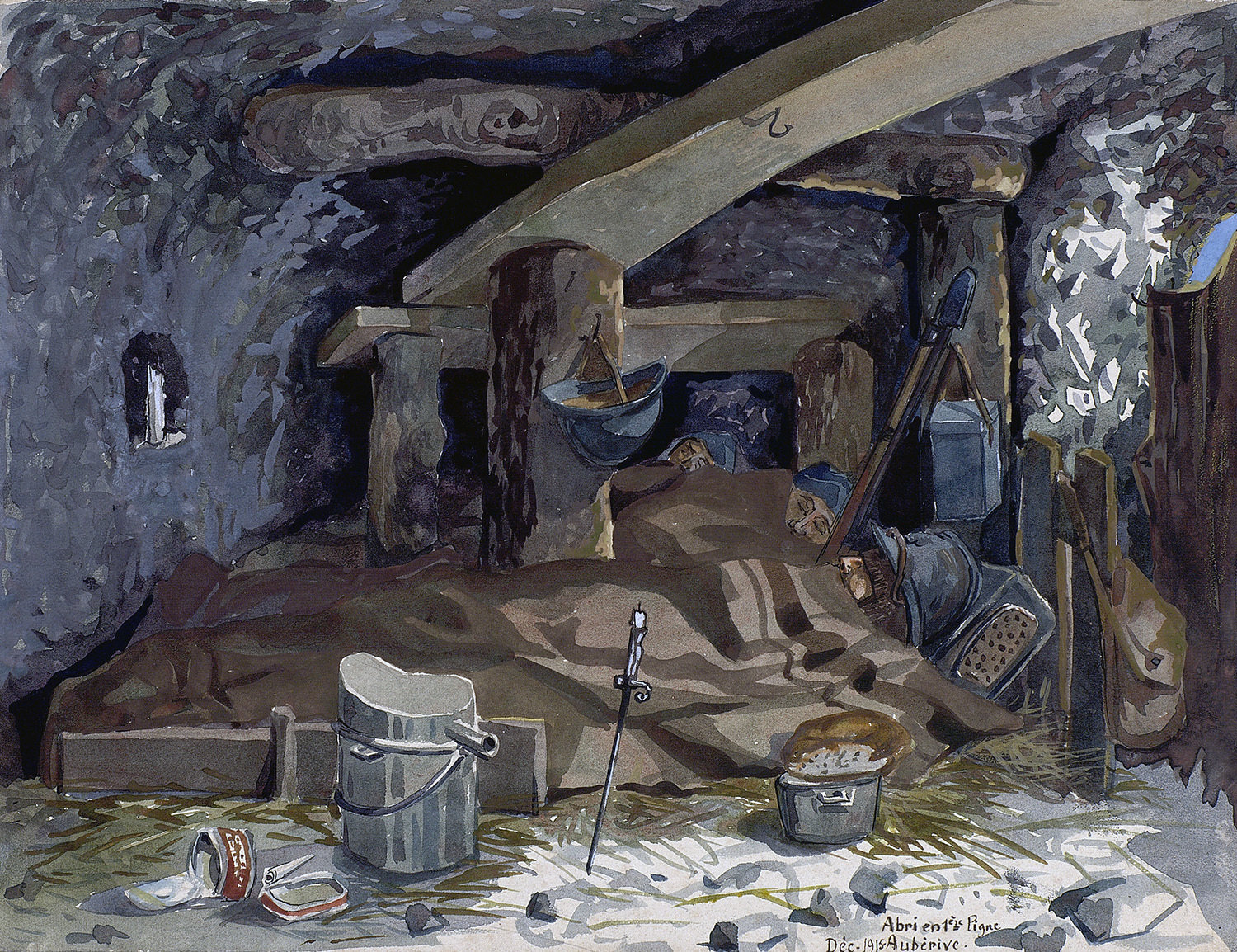 Sleeping soldiers on the Western Front, 1915-1917, Alphonse Robine, Europeana 1914-1918 / Madame Nicole Robine, CC BY-SA