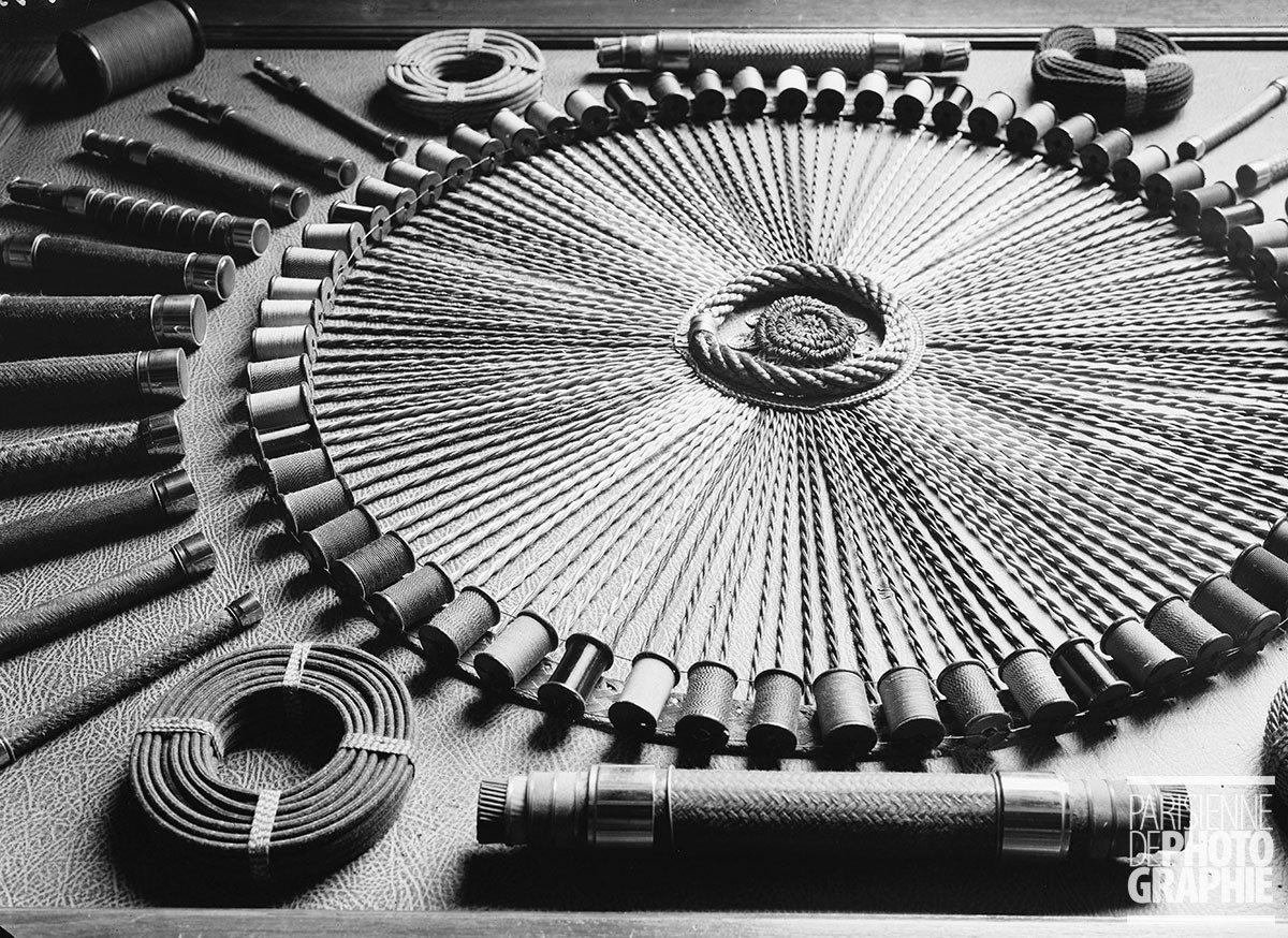 Reels of wire at the Thompson-Houston company in Paris, 1931-1934, François Kollar, Parisienne de Photographie, In Copyright