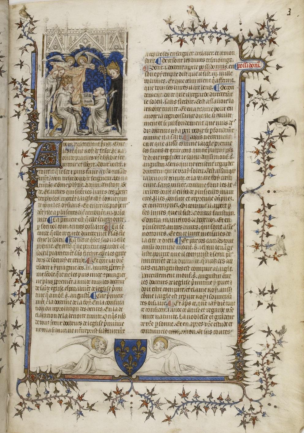 Saint Augustine, De Civitate Dei, French translation by Raoul de Presles f11, Paris, 14th century (c. 1376), French National Library, Manuscripts, Français 22912 Parchment, 445 ff., 276 x 195 mm, Public Domain Mark