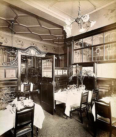 Interior view of the Ladies Tea Room of The Grosvenor, H Bedford Lemere, English Heritage - Viewfinder, In Copyright