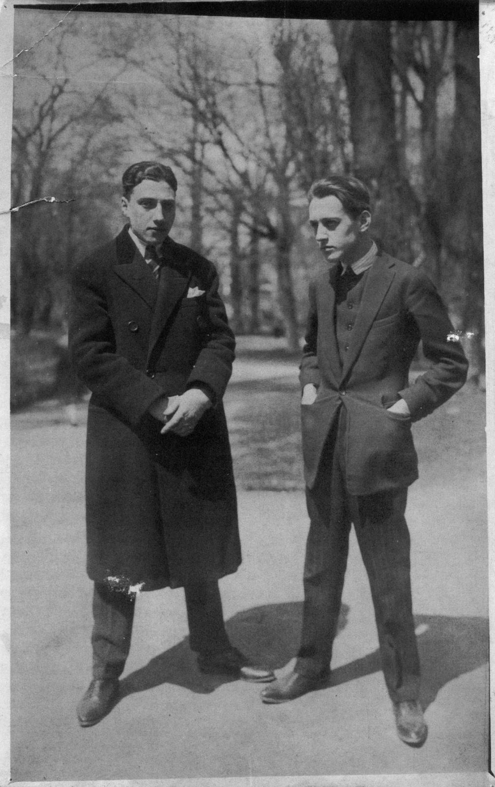 Ilarie Voronca (Eduard Marcus) and Victor Brauner [together they published the avant-garde magazine 75HP], 1920's, Unknown photographer,  Gellu Naum Foundation, Copyright Not Evaluated