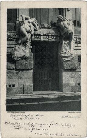 Milano Palazzo Castiglioni- Costruttori Fratelli Galimberti - Arch, G. Sommaruga La Porta, Ministero per i beni e le Attivita' Culturali, Copyright Not Evaluated