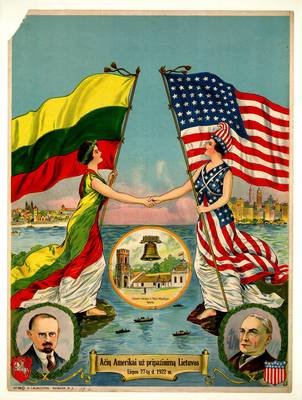 Celebrating the recognition of Lithuania by the US, 1922, Augustinas Laukžemis , National Library of Lithuania, In Copyright