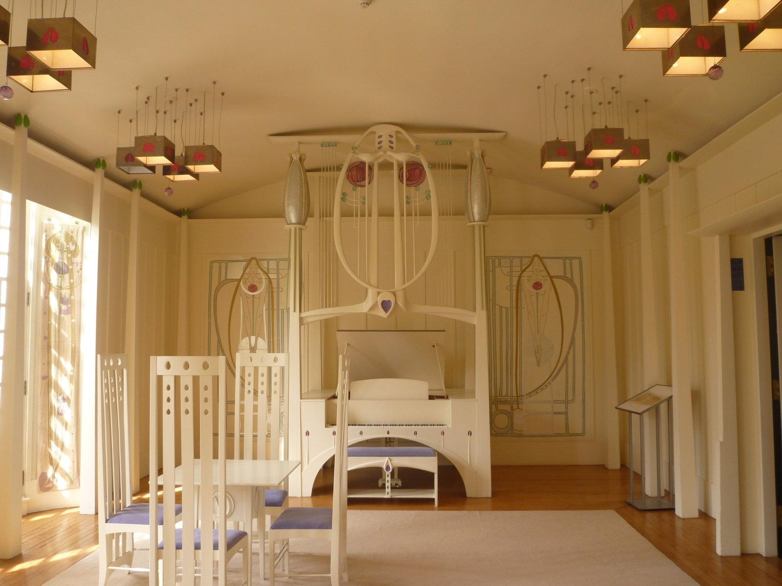 Musikzimmer im House of an Art Lover, Glasgow, 1901, Charles Rennie Mackintosh, Culture Grid, CC BY