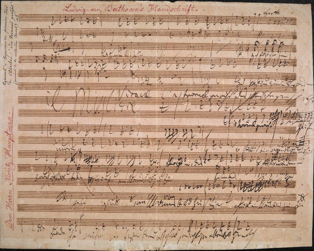 Music to 'Egmont' (autograph manuscript), Ludwig van Beethoven, British Library, CC0