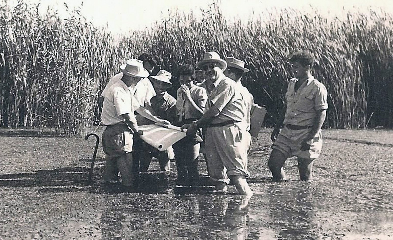 Marcel Janco visiting the Hula swamps, Palestine, 1938, Unknown photographer, Janco Archives, Tel Aviv, Copyright Not Evaluated