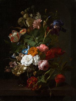 Vase with Flowers, 1700, Rachel Ruysch, Mauritshuis, Public Domain Mark