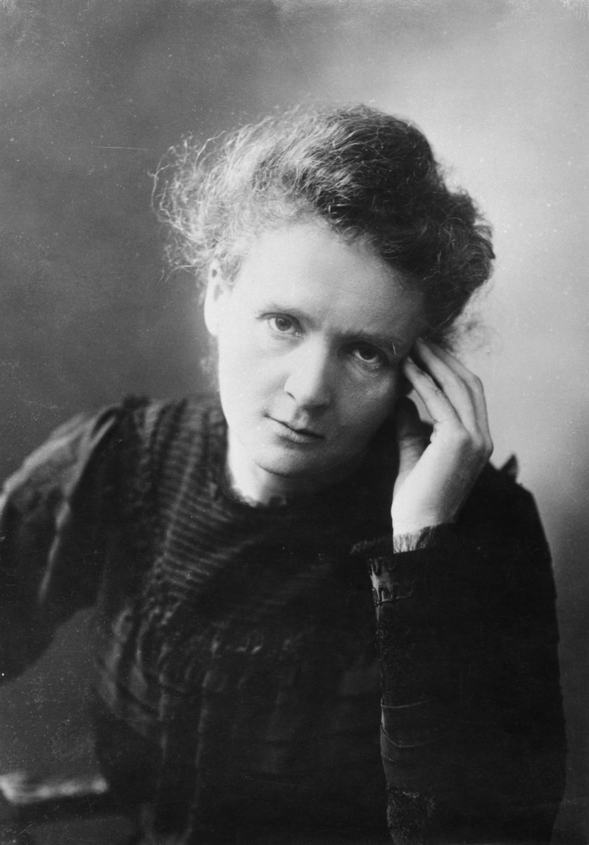 Portrait of Marie Curie, Unknown photographer, Tekniska museet, Public Domain Mark