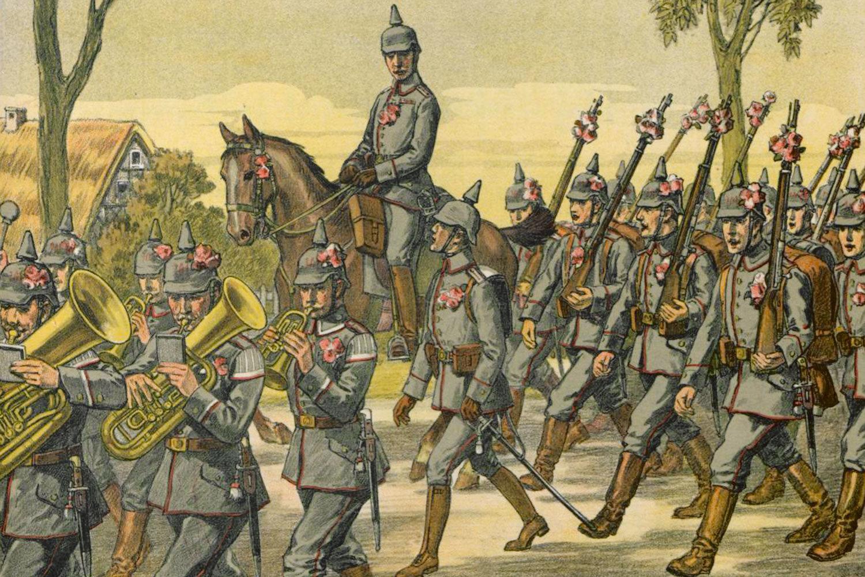 Soldatenlieder-Marsch, 1914, Wilhelm Leubner, Staatsbibliothek zu Berlin, Public Domain Mark