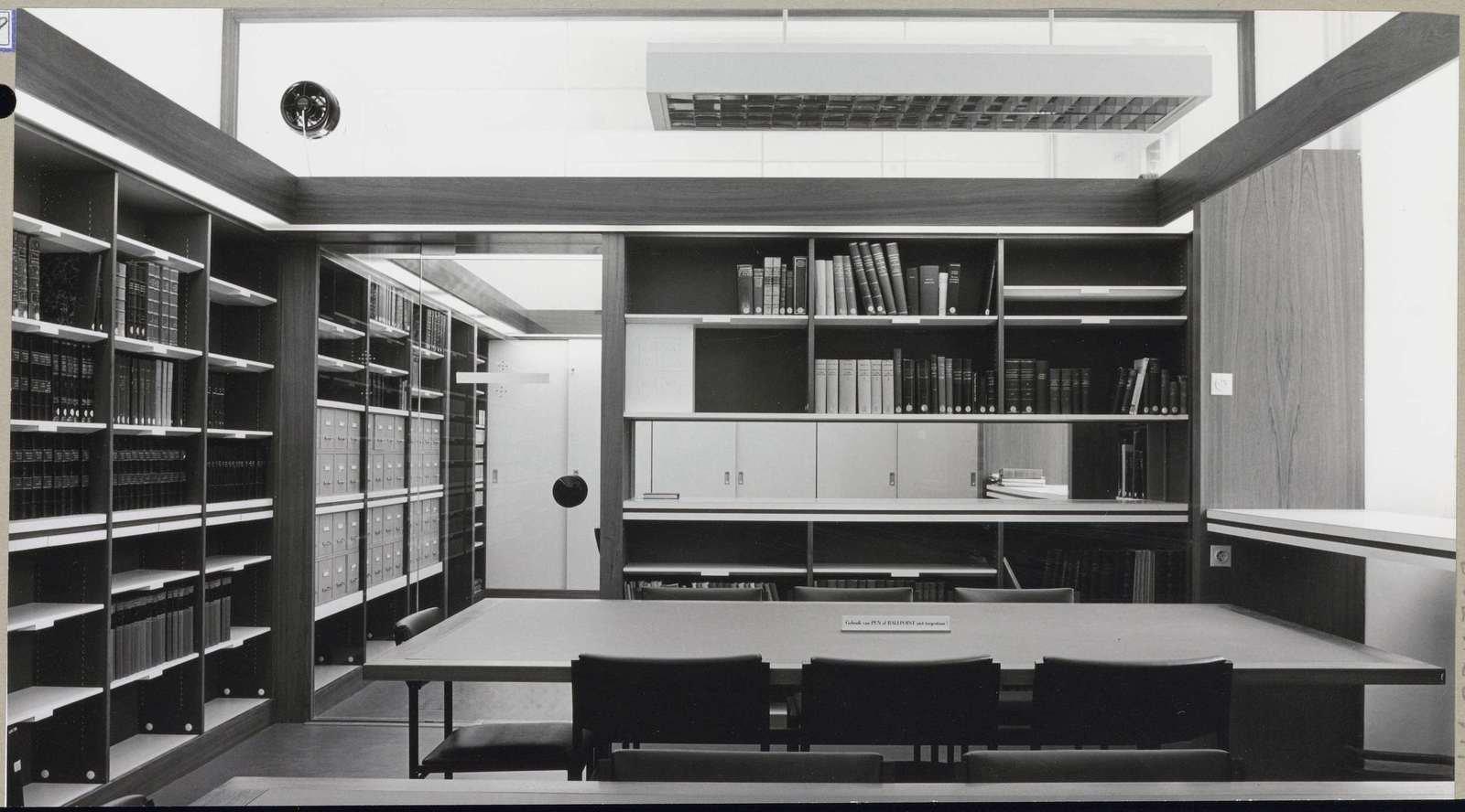 Renovated study room at the Rijksmuseum, 1967, anonymous, Rijksmuseum, Public Domain Mark