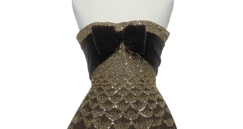 'Mexique' evening gown (detail), 1951, Christian Dior, Les Arts Décoratifs, In Copyright
