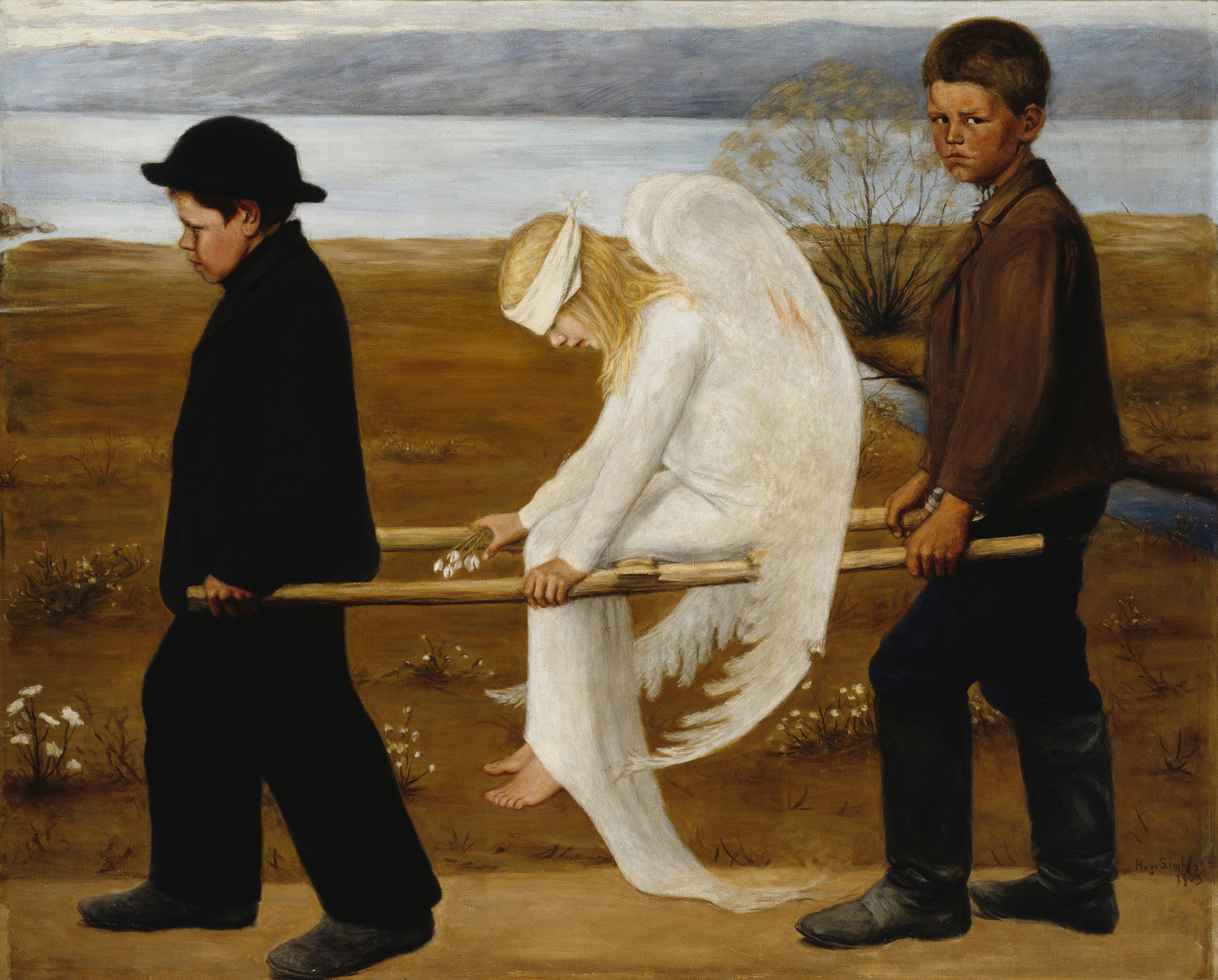 The Wounded Angel, 1903, Hugo Simberg, Finnish National Gallery, CC BY