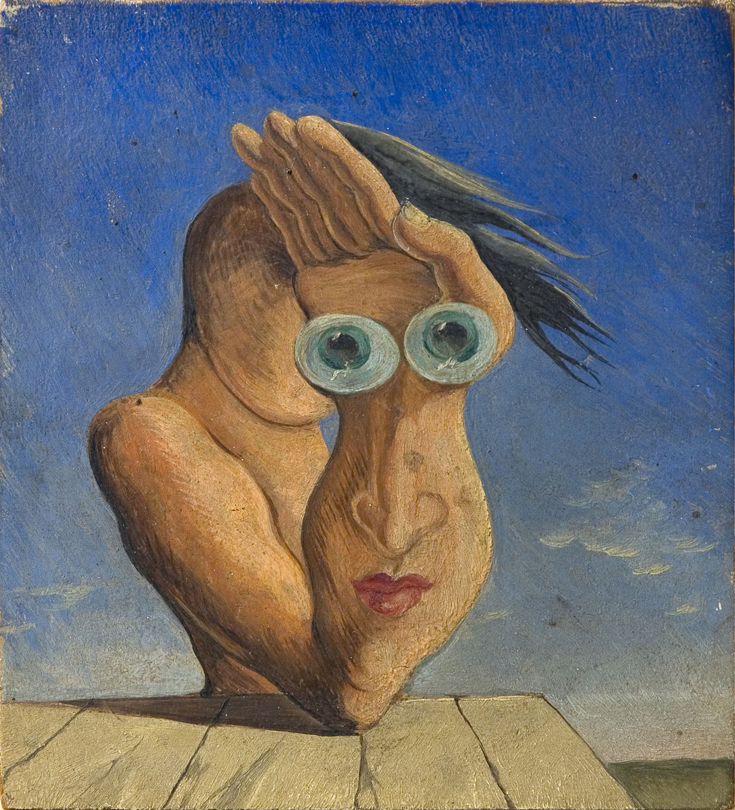 Composition with Portrait, 1930-1935, Victor Brauner, National Museum of Art Romania, Romanian Modern Art Gallery, CC0